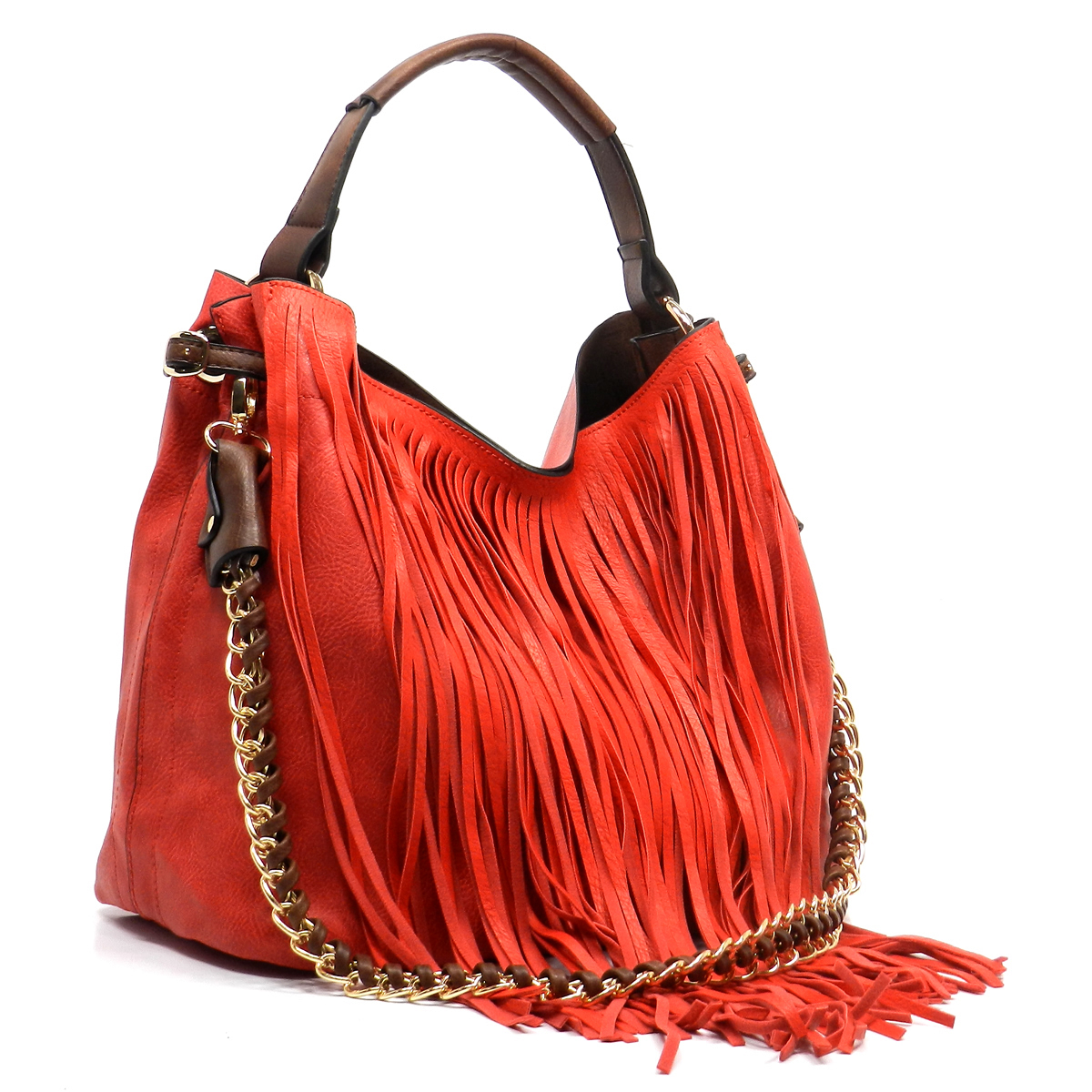 Candy Red Fringe Bag-in-Bag