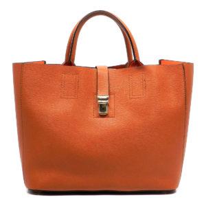 Brown Saffiano bag in bag