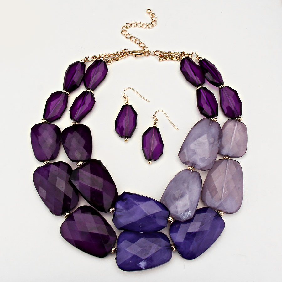 precious of semi chakra purple tree products stone life necklace necklaces